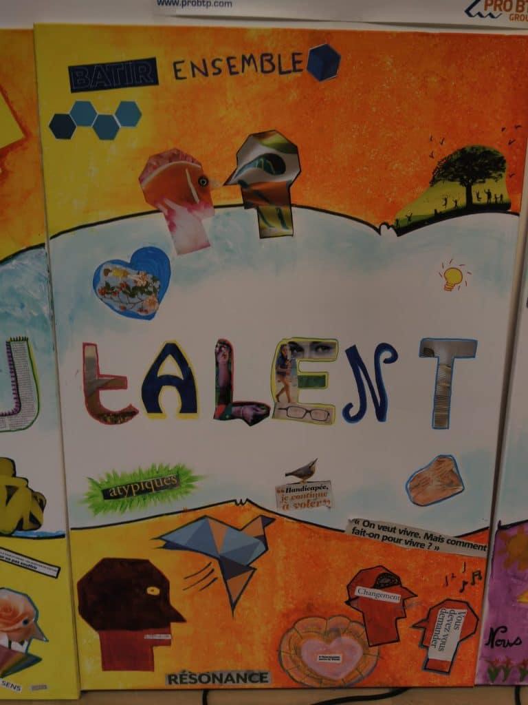 fresque collective sensibilisation au handicap